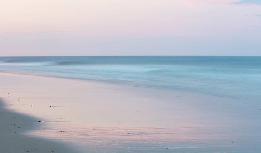 Nauset beach sunset with pastel tones on Cape Cod
